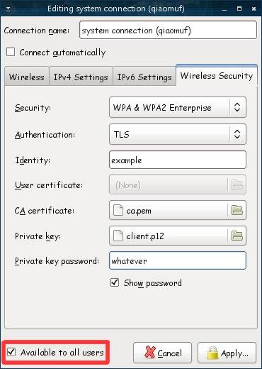 Gentoo network manager